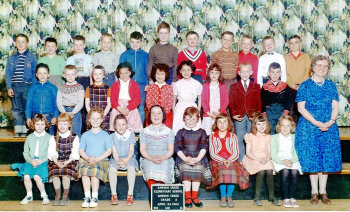 Dawson Creek Elementary Grade 2, Lydia Hinke, April 24, 1963