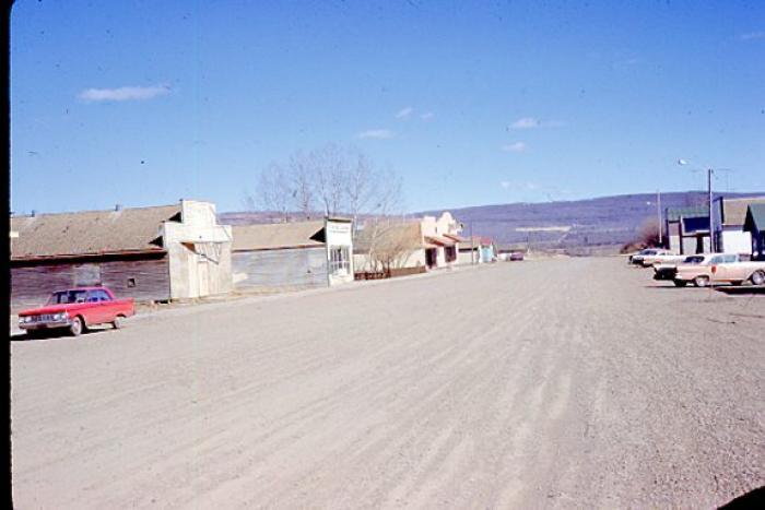 Main St. of Pouce Coupe, BC. April 1962