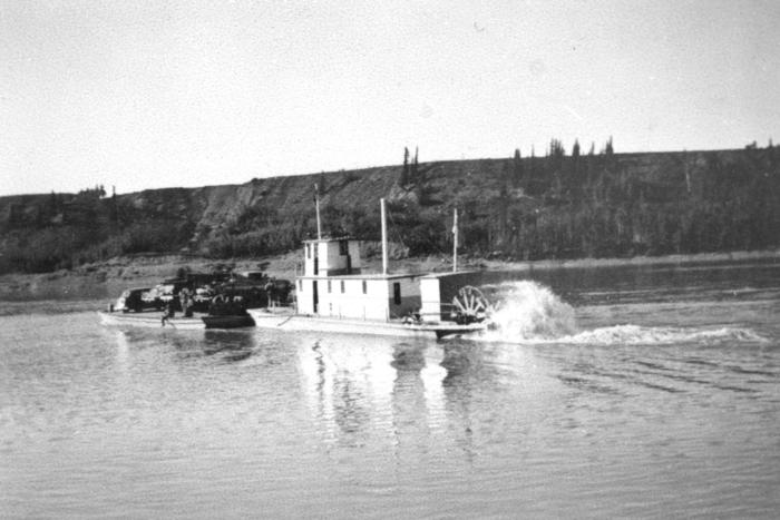 Paddle Wheeler and Barge  Taylor, BC 1942-43