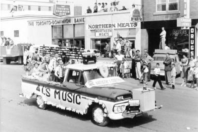 Parade, Al's Music, Dawson Creek, BC, August 1961