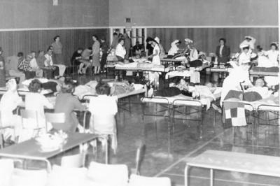 Red Cross Blood Donor Clinic, Dawson Creek, BC September 29, 1960