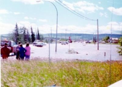 8th Street and 102nd Avenue, Flood, Dawson Creek, BC, July 15, 1974