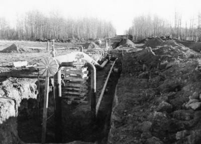 Westcoast Transmission Pipeline, Peace River District, 1956-1958