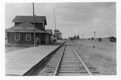Northern Alberta Railway Station, Dawson Creek, BC 1942