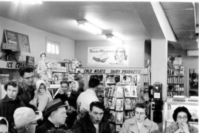 Jack 'N' Jill Confectionery, Interior, 1429 102ave, Dawson Creek, BC, November 1958