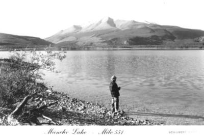 Muncho Lake Mile 550 Alaska Highway  1942-43